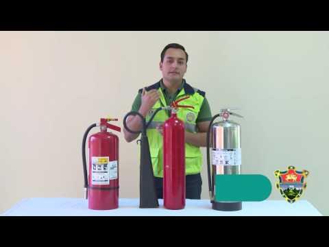 Uso adecuado de un extintor
