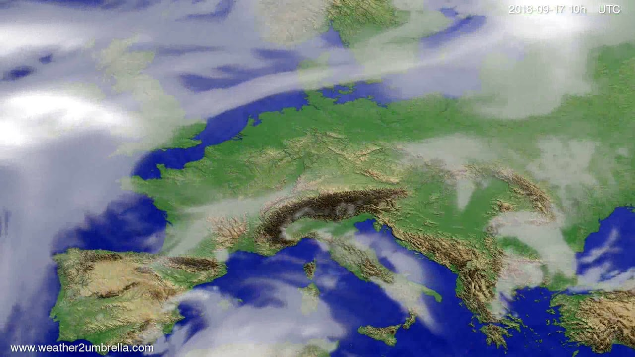 Cloud forecast Europe 2018-09-14