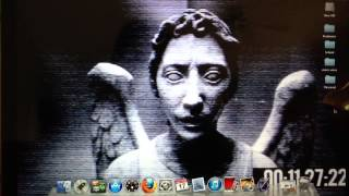 Made a creepy weeping angel wallpaper from Doctor Who.