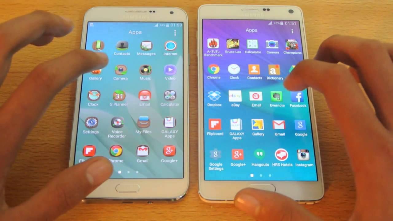 Descargar Samsung Galaxy E7 vs Samsung Galaxy Note 4 – Apps Opening Speed Test HD para Celular  #Android
