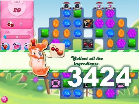 Candy Crush Saga Level 3424 (No boosters)