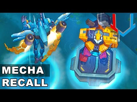 All Mecha Skins - RECALL Animations (League of Legends) (видео)