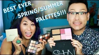 On this week's Monday Makeup Chat series, I'm sharing with you the Best All-In-One Makeup Palettes for Spring & Summer with my pro makeup artist friend Elean...
