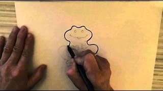 Учимся рисовать лягушку