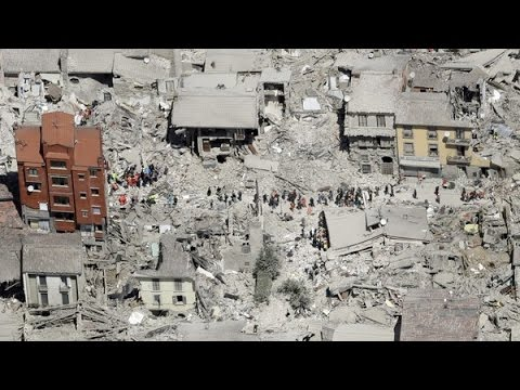 Italy Earthquake 2016 the town of Amatrice gone