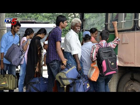 Huge Rush at Bus Stations for Dasara Festival : TV5 News