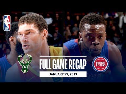 Video: Full Game Recap: Bucks vs Pistons | Balanced Attack Leads MIL