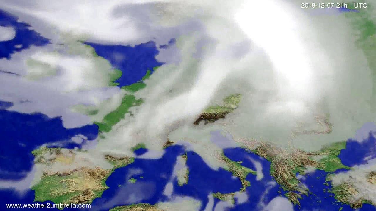 Cloud forecast Europe 2018-12-04