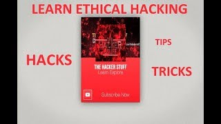 On this Channel :Learn Ethical Hacking ---- FreeGet Android Tips Tricks --- FreeGet PC Tricks --- FreeGet Kali Linux Tuts --- FreeGet All Technical Stuff --- FreeSubscription is also FreeLiked our Stuff ? Then Click on Subscribe Button and gives us your valuable feedback.Checkout Our Website -http://thehackerstuff.com/Follow on Facebook - https://web.facebook.com/thehackerstuff/Follow on Google+https://plus.google.com/u/0/115870405513665529092