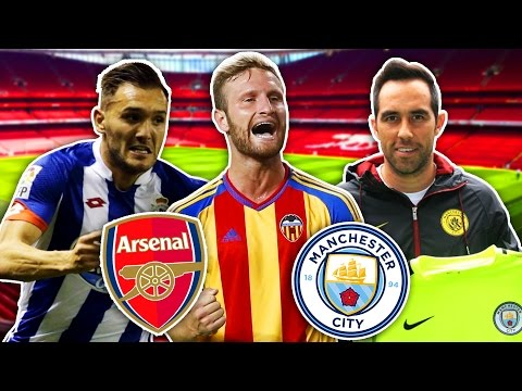 SUMMER TRANSFERS! - ARSENAL TO SIGN MUSTAFI & LUCAS PÉREZ, BRAVO JOINS CITY! | FIFA 16 ULTIMATE TEAM