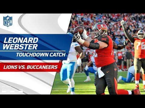 Video: Bucs Big Man Leonard Webster Catches TD to Tie the Game! | Lions vs. Buccaneers | NFL Wk 14