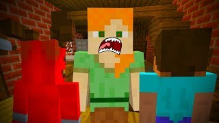 ALEX AND SATAN MINECRAFT - EVIL ALEX KILLS STEVE AND DATES SATAN! •