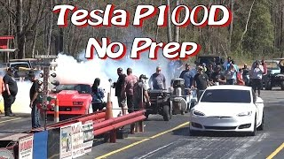 Video Tesla P100D Enters NO PREP Drag Race! MP3, 3GP, MP4, WEBM, AVI, FLV September 2018