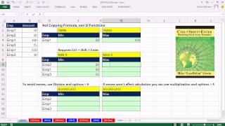 Excel Magic Trick 1013: MIN IF, MAX IF, MINIF, MAXIF (6 Examples) MAX MIN calculation w 1 criteria