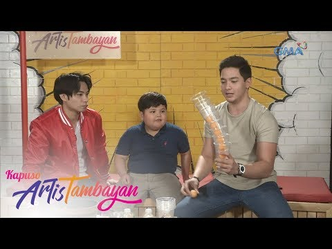 ArtisTambayan: Alden Richards And Yuan Francisco Try The Bouncy Tower Challenge