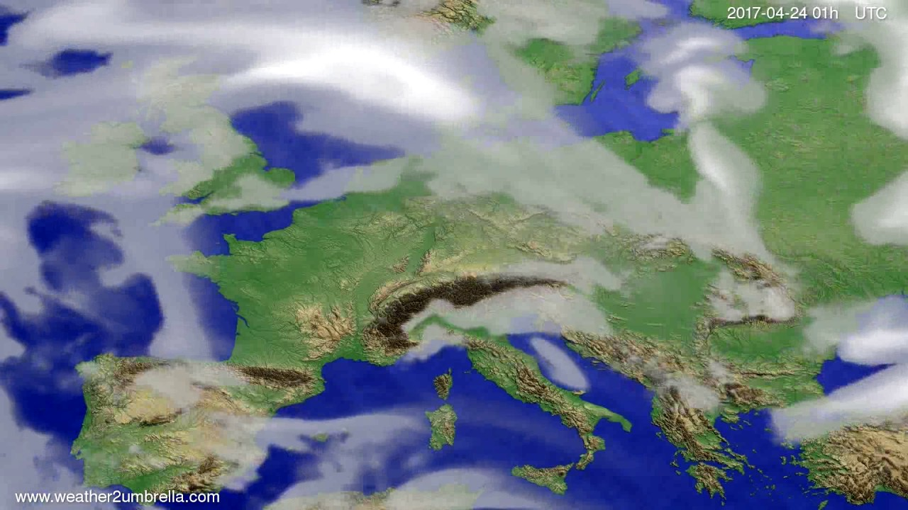 Cloud forecast Europe 2017-04-21