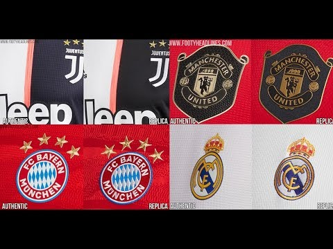 Adidas Bayern, Juventus, Man Utd & Real Madrid 19-20 Authentic Vs Replica Kits