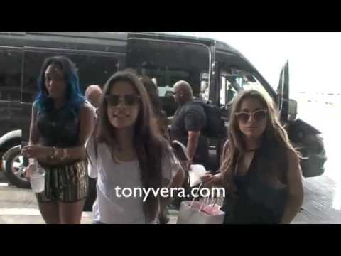 fifth - Fifth harmony Austin Mahone good to fans at LAX.