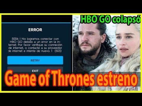 HBO GO colapsó minutos antes del estreno de la última temporada de