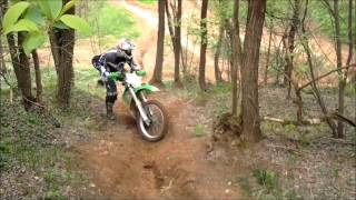 7. KAWASAKI KLX 300 R climbs the hill - Teppa60