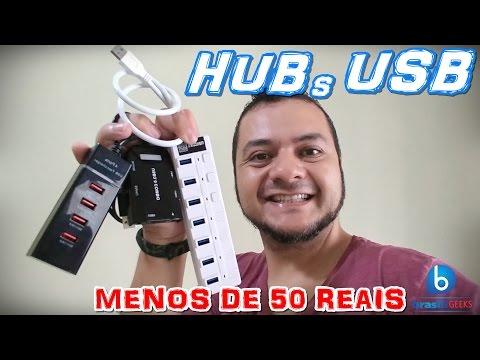 HUBs USB 3.0  abaixo de 50 reais! Em Português