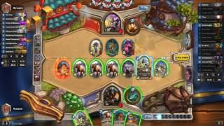 Amazing moment in hearthstone. Been playing a hunter deck that is surprisingly doing well on ladder. 67% at the moment but had a run 10-1 the other night.