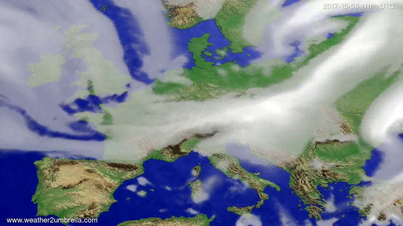 Cloud forecast Europe 2017-10-04