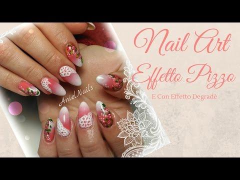 nail art - pizzo decoupage