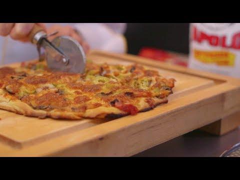 Video - Receta: Aprende a preparar Pizza cuatro estaciones