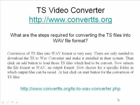 Conversion of files with TS Video Converter