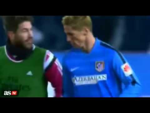 Sergio Ramos Abraza a Fernando Torres Atletico Madrid vs Real Madrid 2015 (видео)