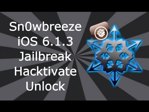 unlock iphone - Please Read Downloads: Sn0wbreeze 0.9.14: http://ih8sn0w.com/ iOS 6.1.3 http://www.felixbruns.de/iPod/firmware/ So now you are Jailbroken what next? Check th...