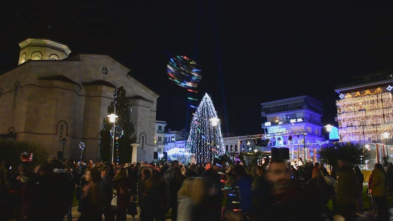 Αναψε το χριστουγεννιάτικο δένδρο στο Αργος