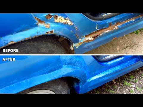 how to fix rust spots on car body