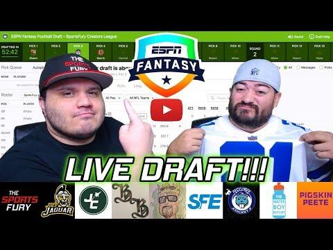 YouTubers Fantasy League Draft Live!