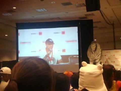 Anime Expo 2012-Steve Blum does an Evil Laugh
