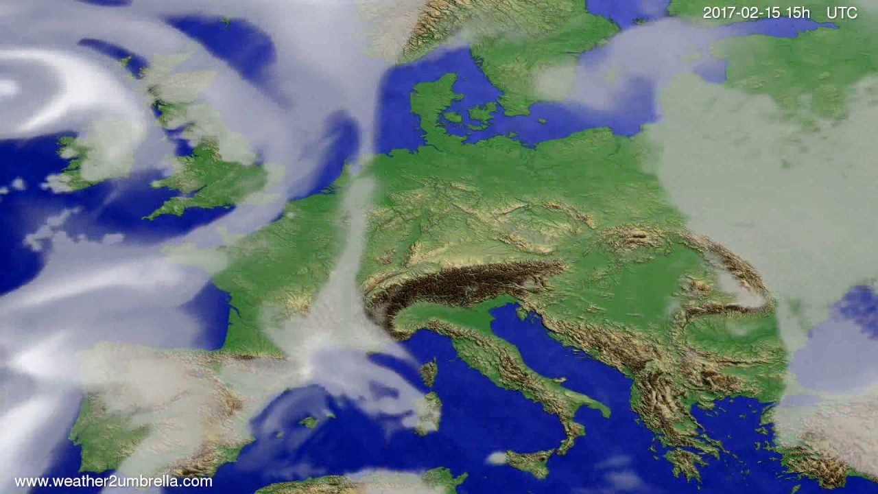 Cloud forecast Europe 2017-02-13