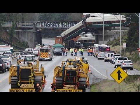 ΗΠΑ: Υπερβολική ταχύτητα είχε το τρένο που εκτροχιάστηκε
