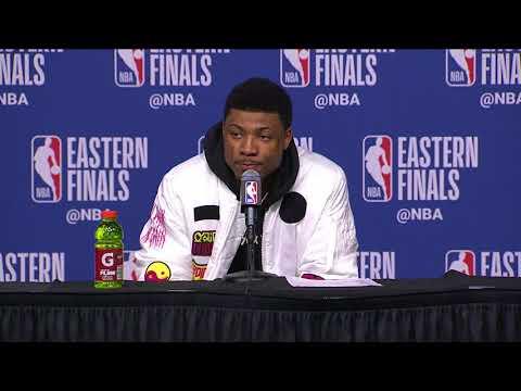 Marcus Smart Postgame Interview - Game 2 | Cavaliers vs Celtics | 2018 NBA East Finals