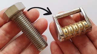 Video I turn a Stainless Bolt into a Combination Lock MP3, 3GP, MP4, WEBM, AVI, FLV Juli 2019