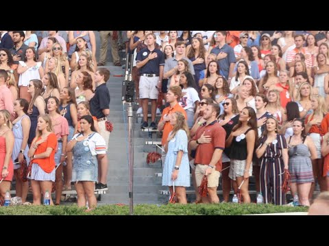 Auburn students sing God Bless America, the National Anthem at 2019 Kent State game