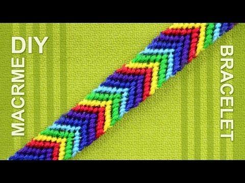 How to make a Chevron (Arrows) Rainbow Friendship bracelet