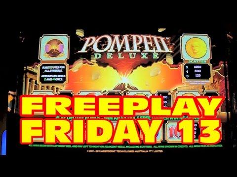 Pompeii Deluxe SLOT MACHINE BONUS & LIVE PLAY Freeplay Friday 13