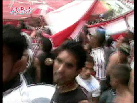 Frente rojiblanco en acción. Junior de Barranquilla - Frente Rojiblanco Sur - Junior de Barranquilla