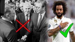 Brazilski nogometaš Marcelo Viera iz Real Madrida rasplesao se uz popularni hit 'Moj Ivane' Marka Perkovića Thompsona na...