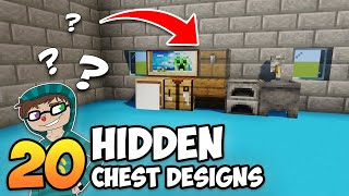20 Hidden Chest & Barrel Designs in Minecraft! (Building Tips & Tricks)