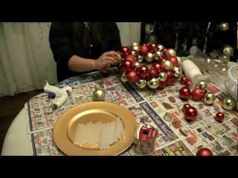 Πως να φτιάξω χριστουγεννιάτικο στεφάνι με χριστουγεννιάτικες μπάλες