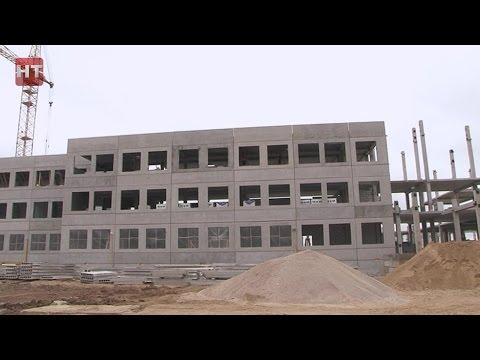 """В Великом Новгороде полным ходом идет строительство новой школы в микрорайоне """"Ивушки"""""""