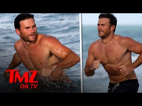 Scott Eastwood Takes a Dip, Chats Up Hot Chick at the Beach | TMZ TV