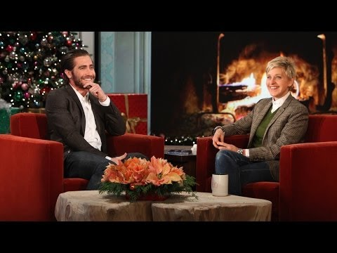 Jake Gyllenhaal - He showed Ellen his war wound from a recent on-set mishap, and told her the story that went with it!